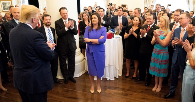 Sarah Sanders Sends Message To Critics: 'I Will Walk Out Of White House Today With Head Held High'