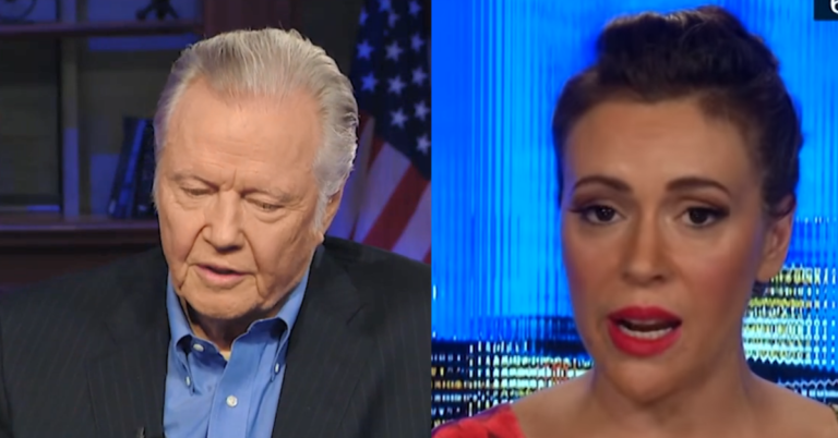 """Jon Voight Responds To Alyssa Milano's Insult: """"I have sympathy for people that are in ignorance"""""""