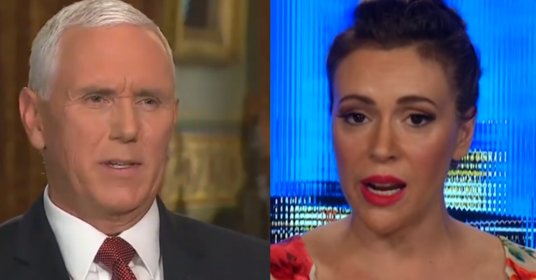Alyssa Milano Compares Mike Pence To Heinrich Himmler In Offensive Display of Liberal Hypocrisy