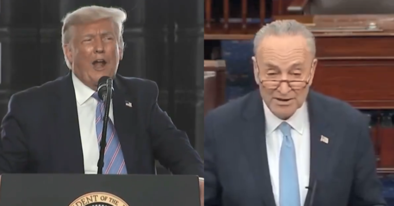 """Trump Knocks Chuck Schumer Off High Horse Over Failed Extension: """"More interested in playing politics than in helping people"""""""
