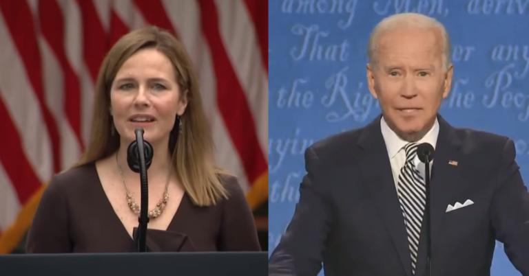 Amy Coney Barrett Deals Huge Blow To Joe Biden, Won't Commit To Recusing From Election Case