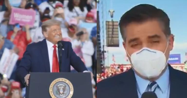 Trump Fans Shut Down Jim Acosta With Chants Of CNN Sucks Before Trump Rally In Florida
